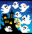 ghost theme image 2 vector image