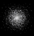 glitter covered silver snowflake with on vector image vector image