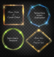 glow light frames vector image vector image