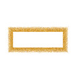 gold frame isolated on white background golden vector image