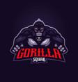 gorilla esport logo vector image vector image
