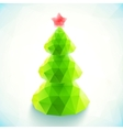 Green polygonal christmas tree vector image vector image
