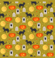 halloween concept seamless pattern vector image