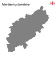 high quality map is a ceremonial county england vector image vector image