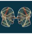 human profiles vector image