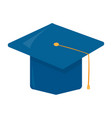 isolated graduation cap vector image