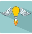 Light Bulb with Wings vector image vector image