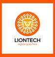 lion tech logo vector image vector image