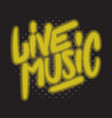 live music concert dj set party related hand drawn vector image