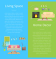 living space home decor set vector image vector image