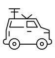 machine portable radio thin line icon van with vector image vector image