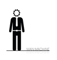 man machine icon vector image