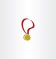 medal icon logo symbol vector image