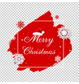 merry christmas poster with blobs isolated vector image vector image