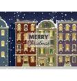 Merry Christmas street card vector image