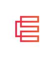 modern letter e logo design vector image