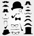 Mustaches and other retro accessories vector image