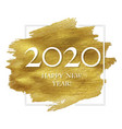 new year poster with golden blot vector image