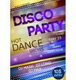Night club disco party poster vector image vector image