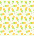popsicle seamless pattern vector image vector image