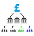 Pound bank association flat icon vector image