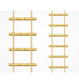 realistic 3d detailed bamboo ladder set vector image vector image
