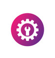 repair service icon gear and wrench vector image