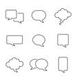 set empty comic style speech bubbles design vector image