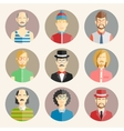 Set of nine male avatars vector image vector image