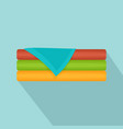 set of towel icon flat style vector image