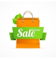 Shopping bag with SALE on ribbon vector image vector image