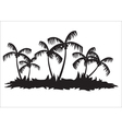 Silhouettes of palm tree forest vector image