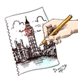 sketch London vector image vector image