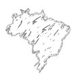 sketch of a map of brazil vector image vector image