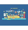 sky logistics design flat vector image