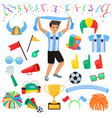soccer fan football character people with vector image