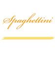 Spaghettini pasta vector image vector image