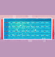 sports pool top view with blue ripped water vector image