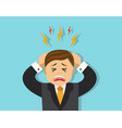 stressful situation for the employee vector image vector image