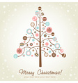 Stylized design Christmas tree vector image vector image
