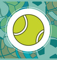 tennis sport ball vector image vector image