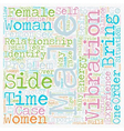 The Battle of the Sexes text background wordcloud vector image vector image