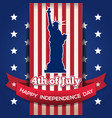 us independence day card 4th of july vector image
