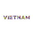 vietnam concept retro colorful word art vector image