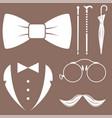 vintage style design hipster gentleman vector image