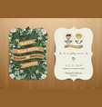 Wedding invitation card cartoon bride and groom vector image vector image
