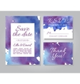 wedding invitation card set with watercolor vector image vector image