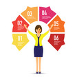 woman in front of a chart vector image vector image