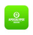 zombie terror icon green vector image vector image