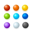 Color Glossy Spheres or Button Set vector image